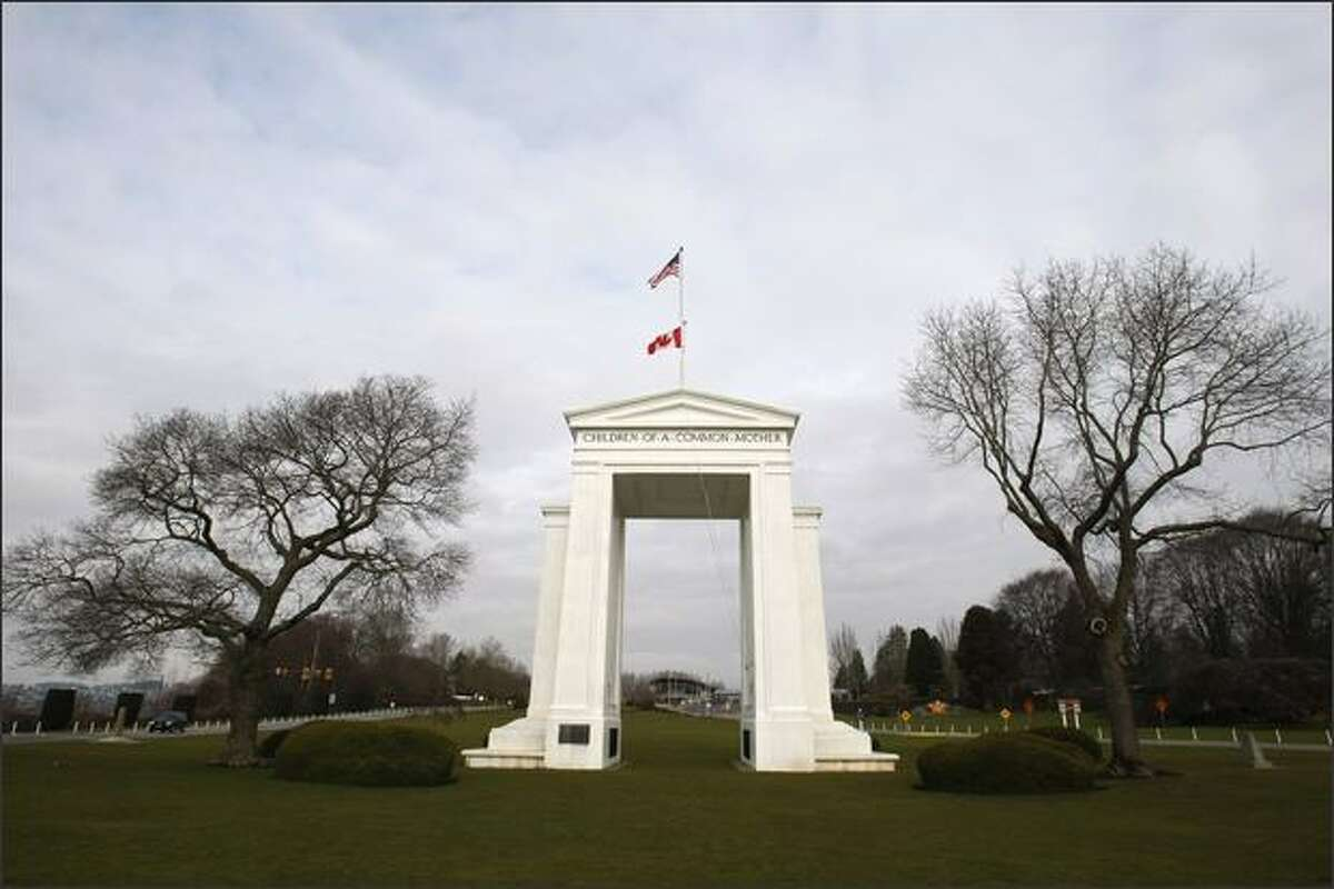 The Peace Arch International Park in Blaine has long symbolized the open border between the United States and Canada.