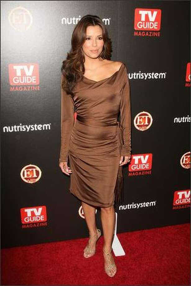 Actress Eva Longoria Parker arrives at TV Guide's sexiest stars party held at the Sunset Tower Hotel in Hollywood, Calif., on Tuesday, March 24, 2009. Photo: Getty Images