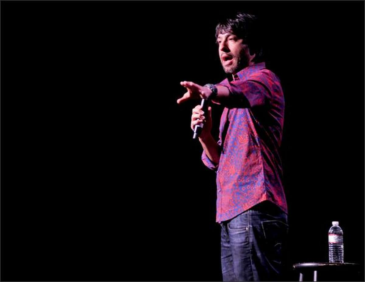 Comedian Arj Barker opens for the Flight of the Conchords at the Paramount Theatre.
