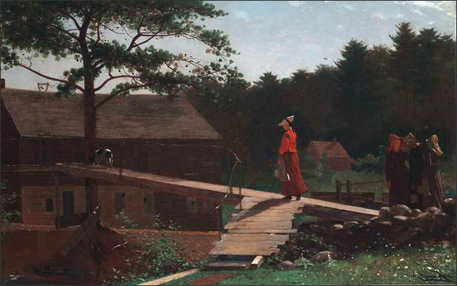 "Winslow Homer (1836-1910): ""Old Mill (The Morning Bell),"", 1871, oil on canvas Photo: Seattle Art Museum"