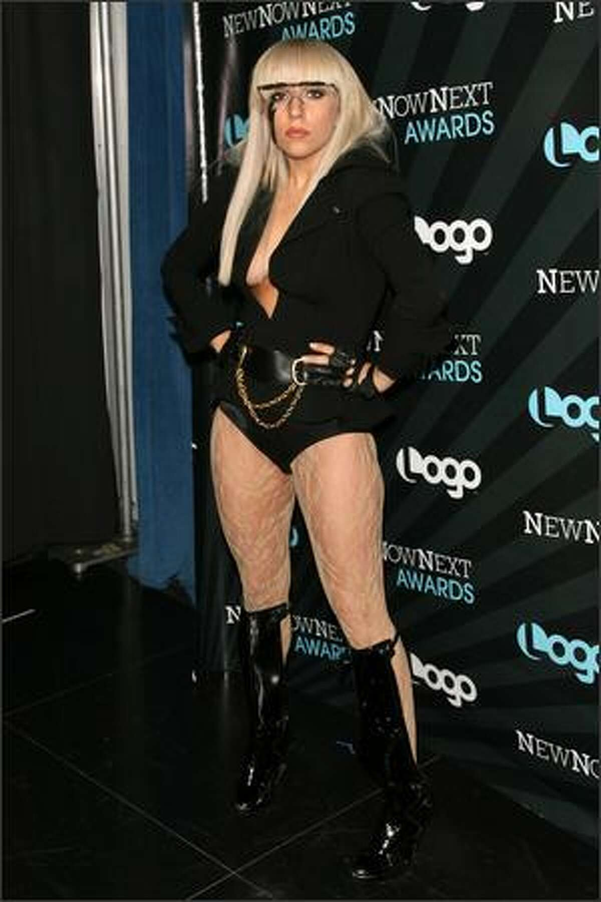 Lady Gaga arrives at the 2008 NewNowNext Awards at the MTV studios on May 19, 2008 in New York City.