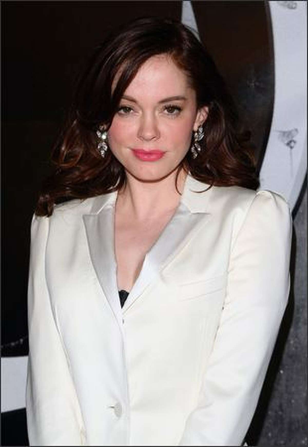 Actress Rose McGowan walks the red carpet during Burberry Day at the New York Palace Hotel on Thursday, May 28, 2009. The party celebrated fashion label Burberry's new American headquarters on Madison Avenue in New York.