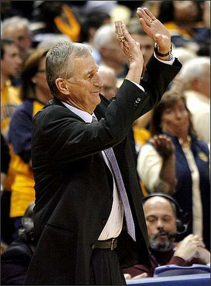 Connecticut coach Jim Calhoun reacts to a foul called against his team during the second half of a game against Marquette on Wednesday. The leaders of the Connecticut General Assembly's higher education committee want Calhoun reprimanded for his tirade at a freelance journalist who questioned his $1.6 million salary. Photo: / Associated Press