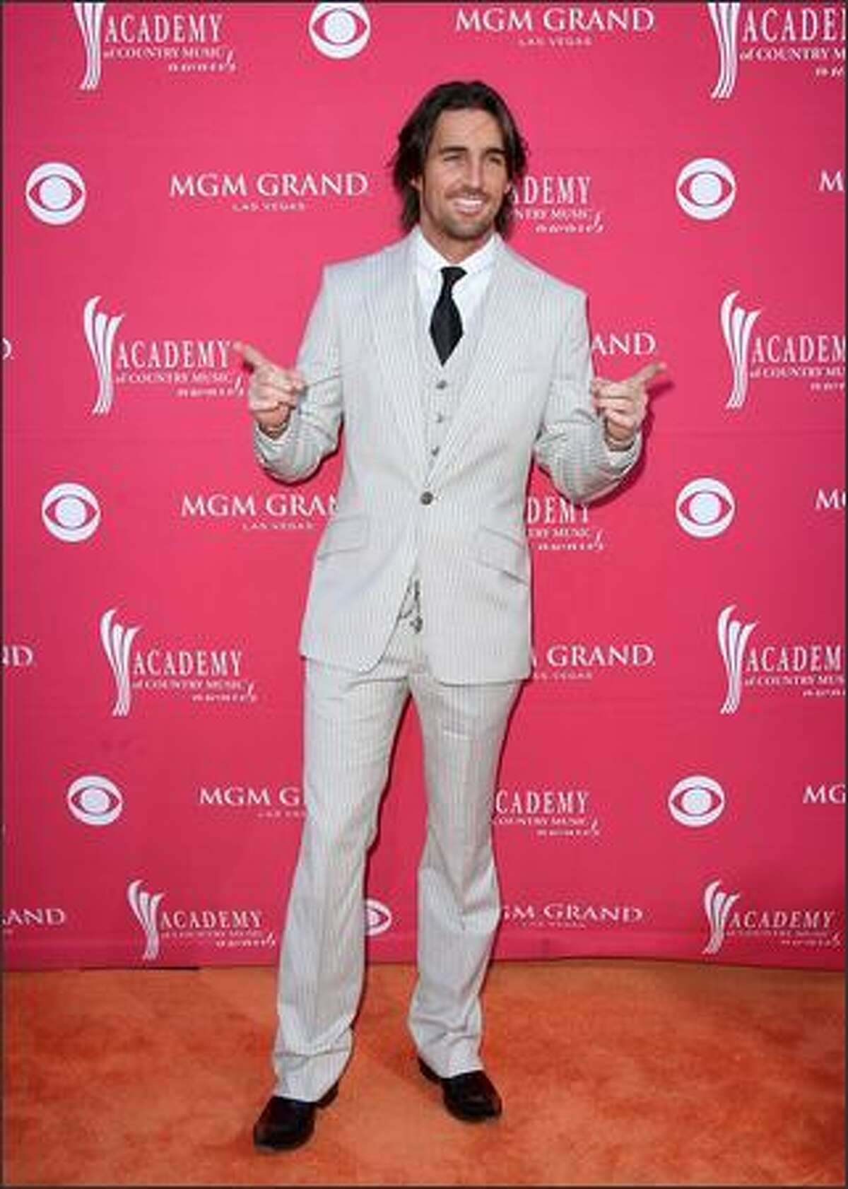 Musician Jake Owen arrives at the 44th annual Academy Of Country Music Awards held at the MGM Grand in Las Vegas.