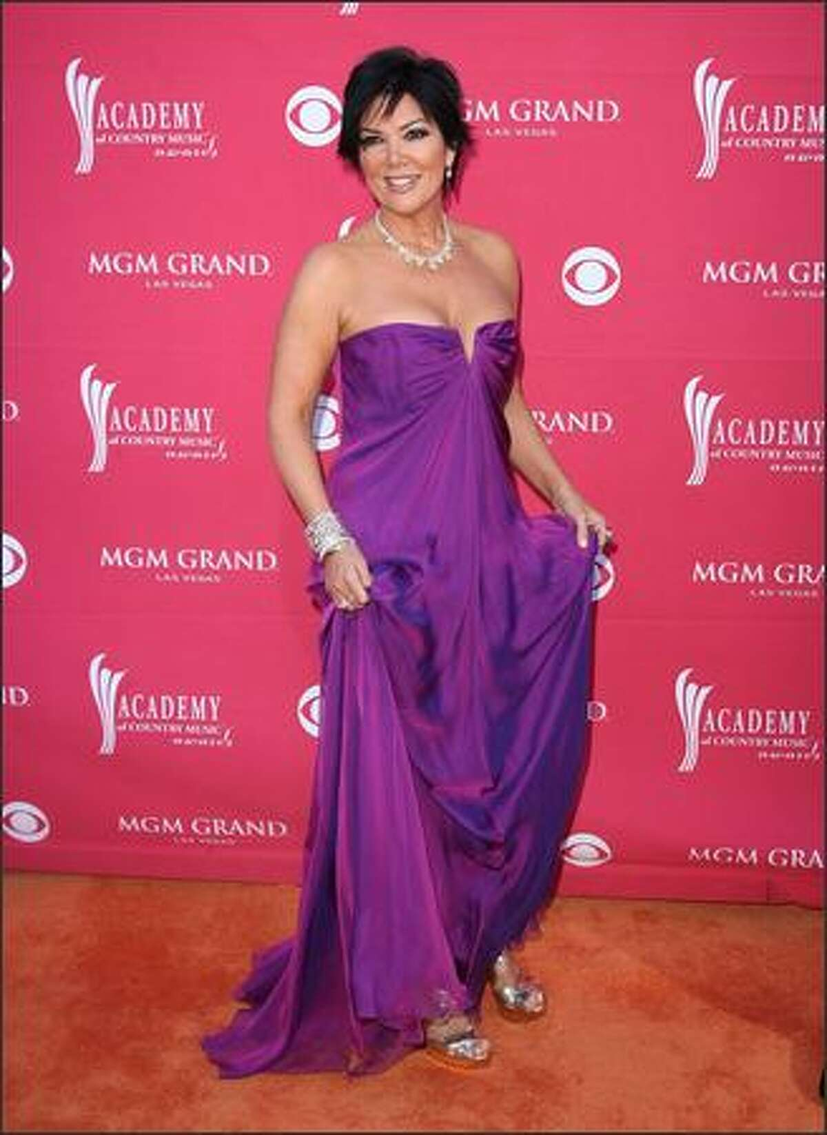 TV personality Kris Jenner arrives at the 44th annual Academy Of Country Music Awards held at the MGM Grand in Las Vegas.