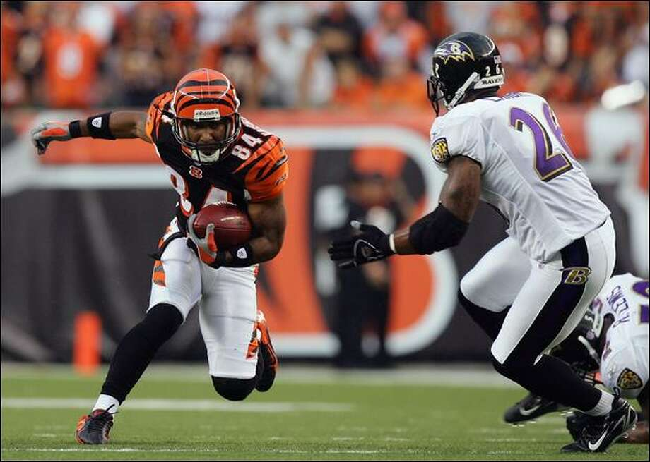 Wide receiver T.J. Houshmandzadeh has averaged 98 receptions, 1,042 receiving yards and eight touchdown catches for the Cincinnati Bengals the past three seasons. Photo: Jim Mcisaac/Getty Images