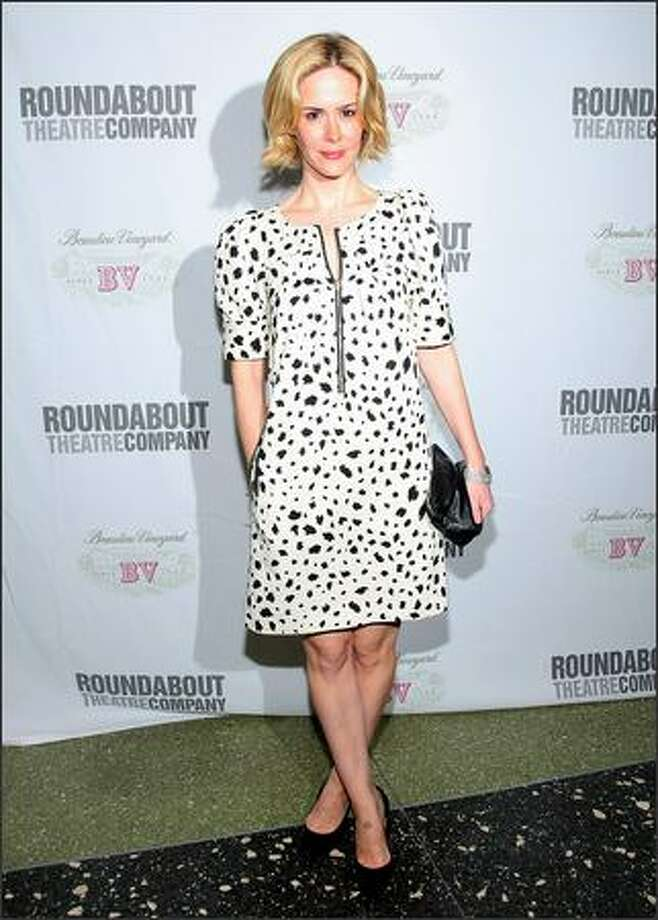 "Actress Sarah Paulson attends ""Take Me Back To Manhattan,"" Roundabout Theatre Company's annual spring gala at Roseland Ballroom on Monday in New York City. Photo: Getty Images"