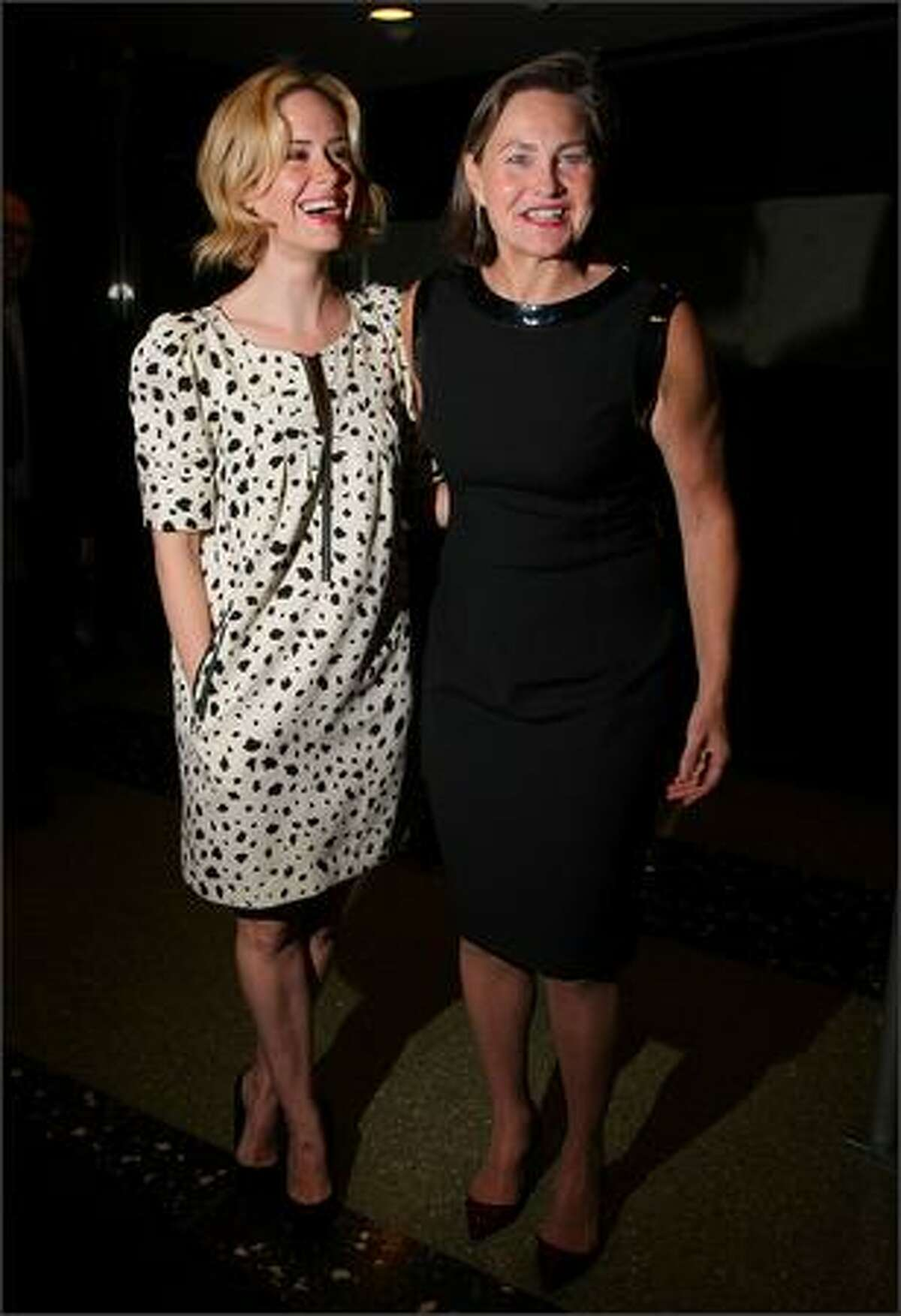 Actresses Sarah Paulson and Cherry Jones attend