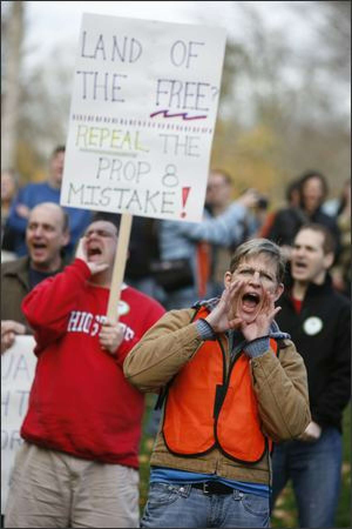 Melissa Pate came from Lynnwood to volunteer with the march.