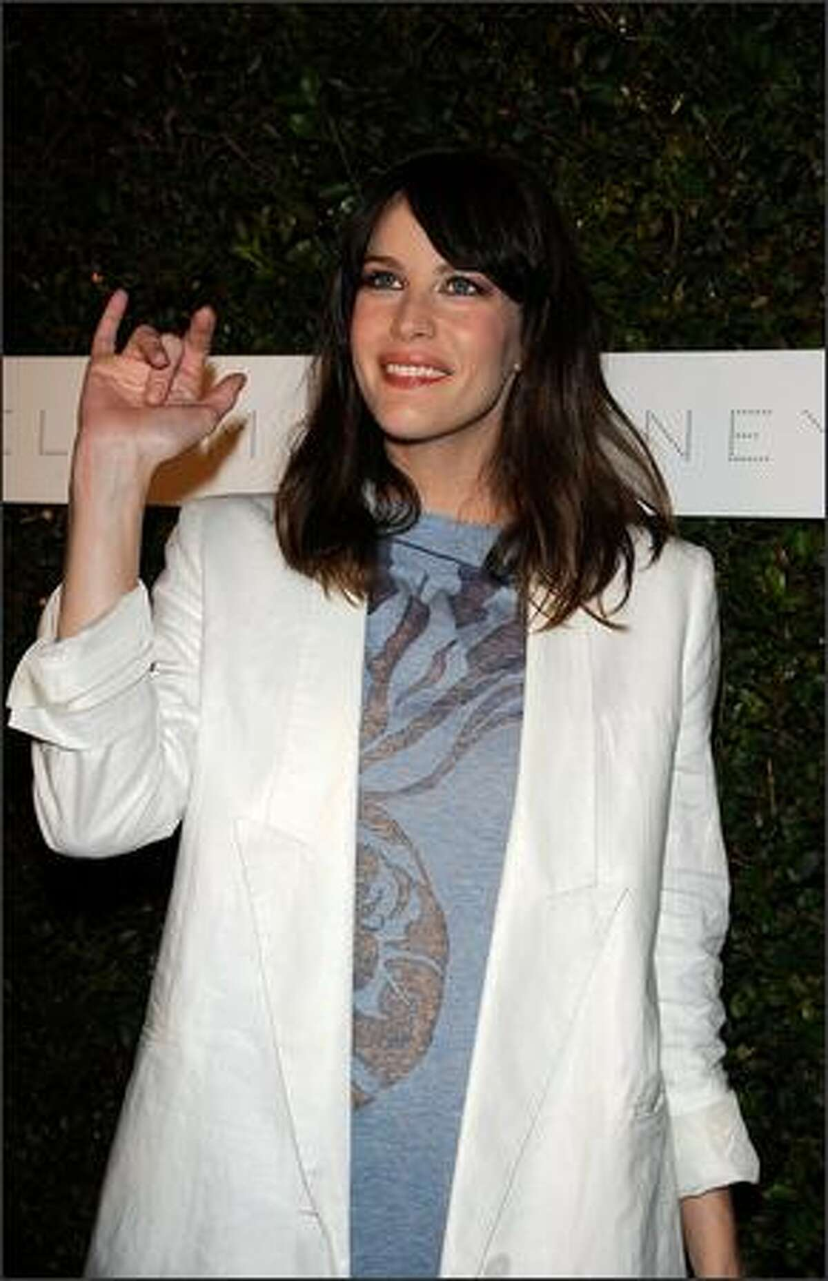 Actress Liv Tyler arrives at a screening of