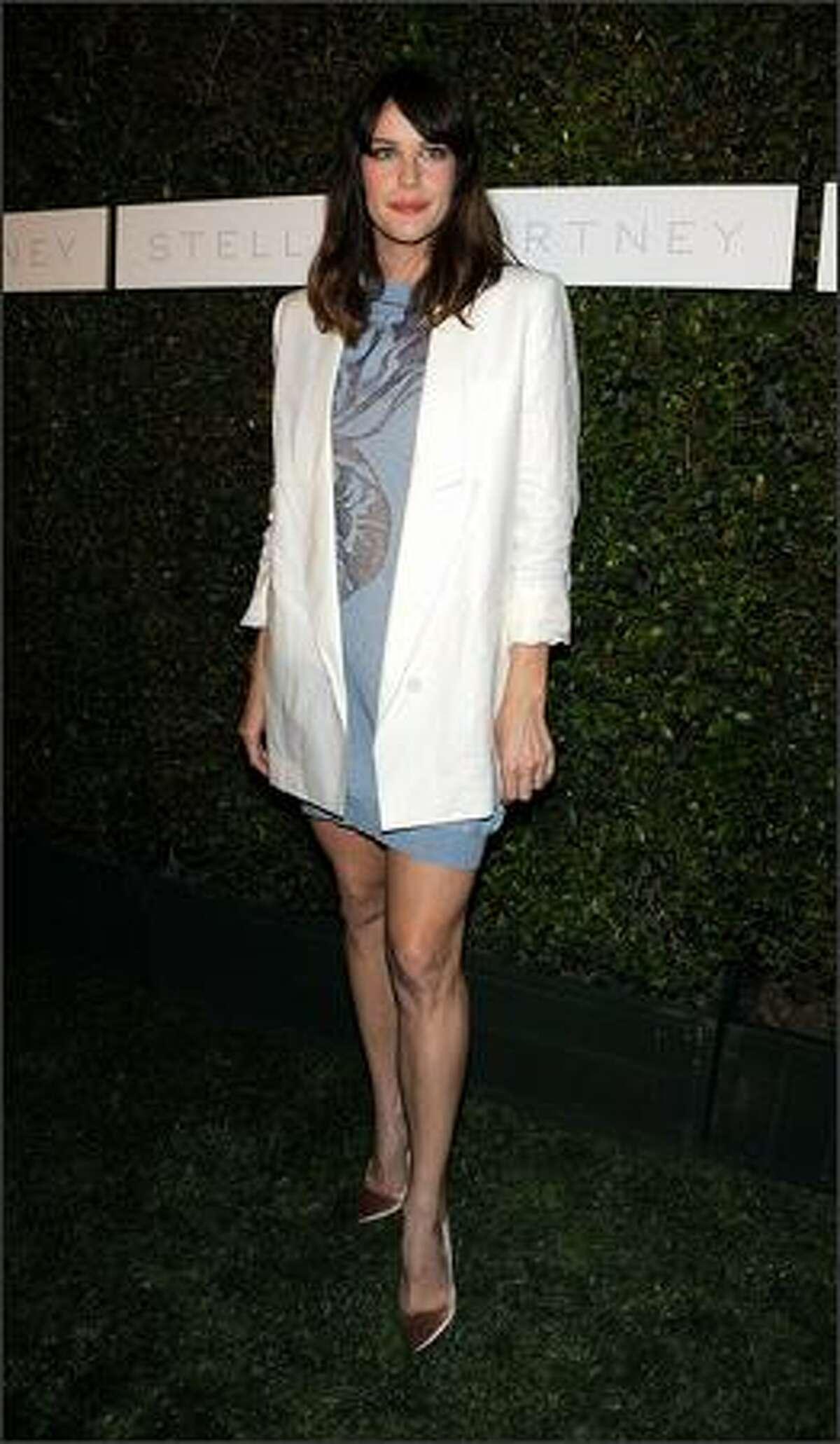 Actress Liv Tyler arrives.