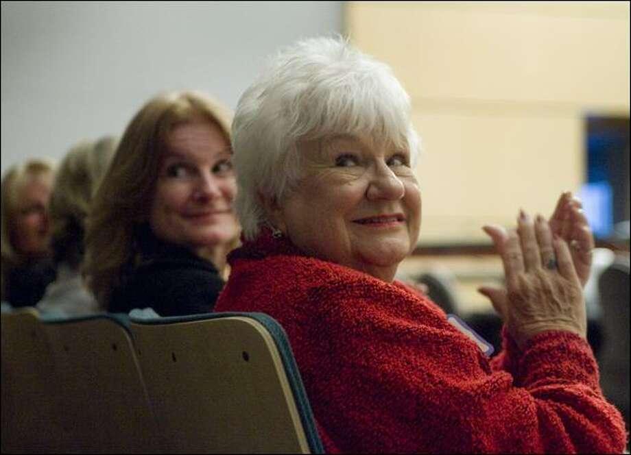 Rose Stevenson, widow of Seattle Fire Department Capt. Stan Stevenson, attends a celebration of the Mental Health Court. Photo: Dan Delong/Associated Press