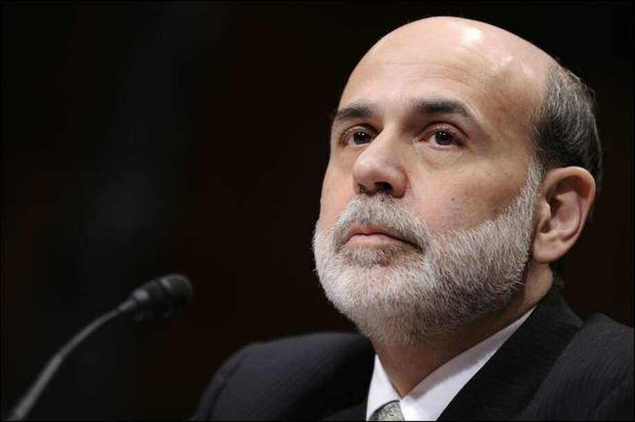 """Federal Reserve Chairman Ben Bernanke testifies that there really was """"no choice"""" in giving more money to AIG. Photo: Susan Walsh/Associated Press"""