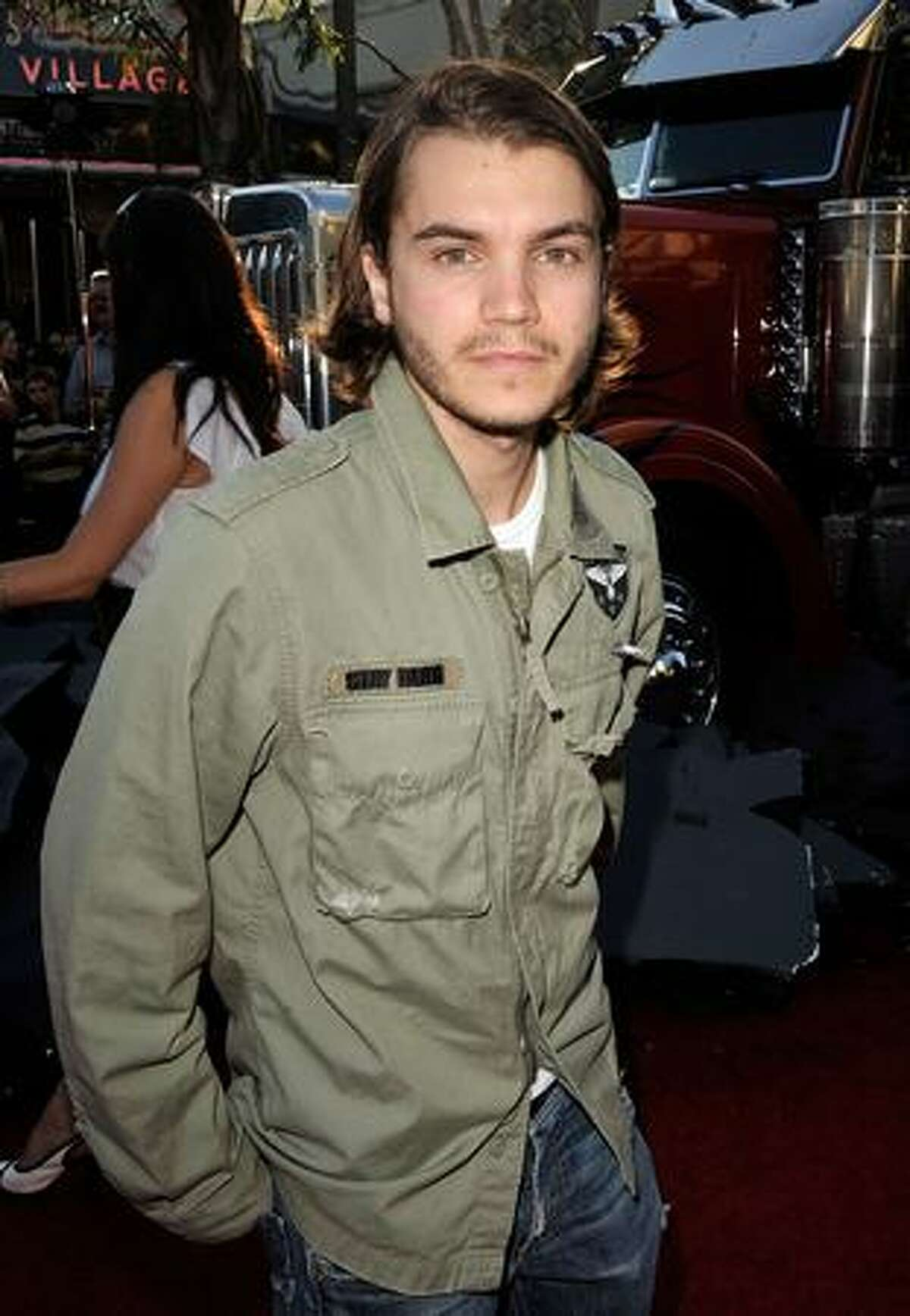 Actor Emile Hirsch arrives at the premiere of Dreamworks'