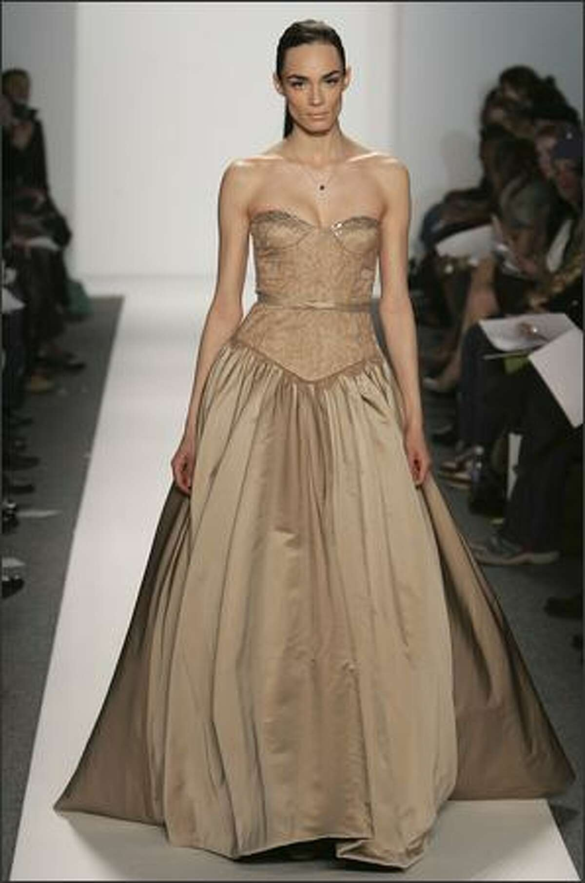 The next several photos are from Wu's first collection, shown in February 2006. The New York Times described his style as