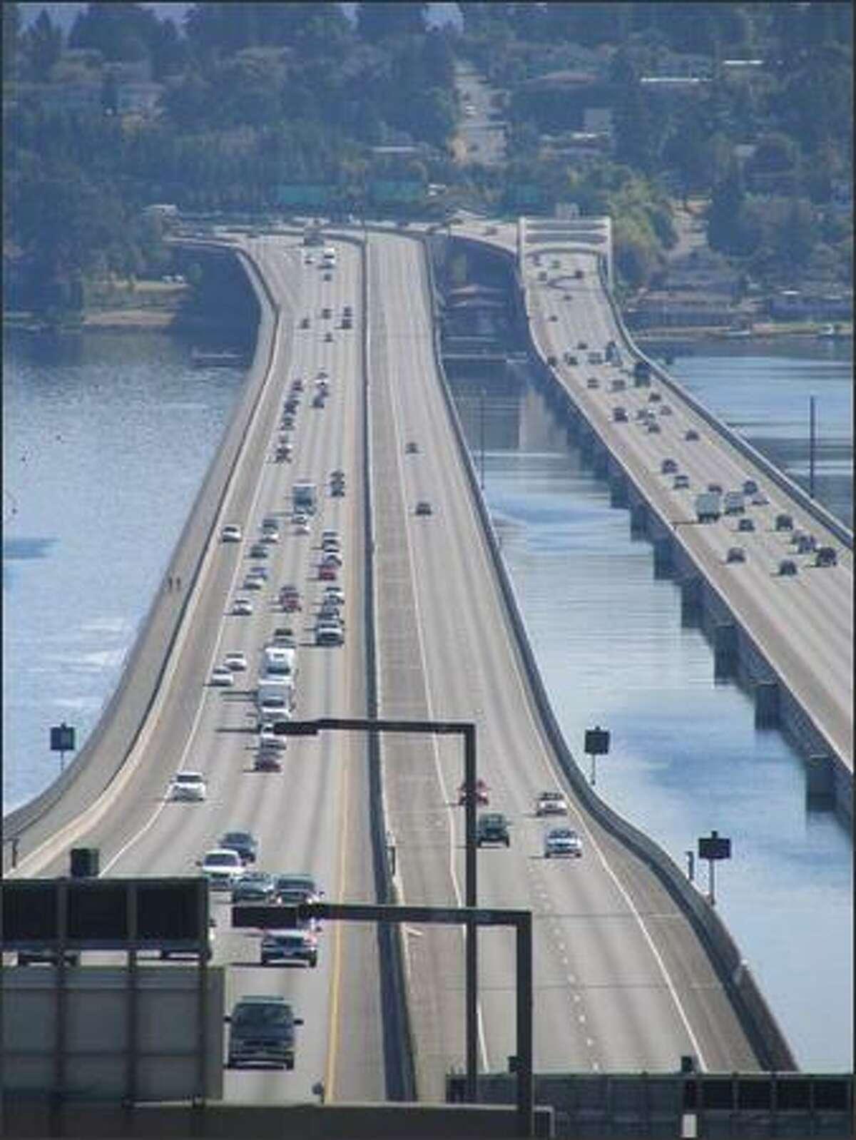 The Interstate 90 floating bridge.