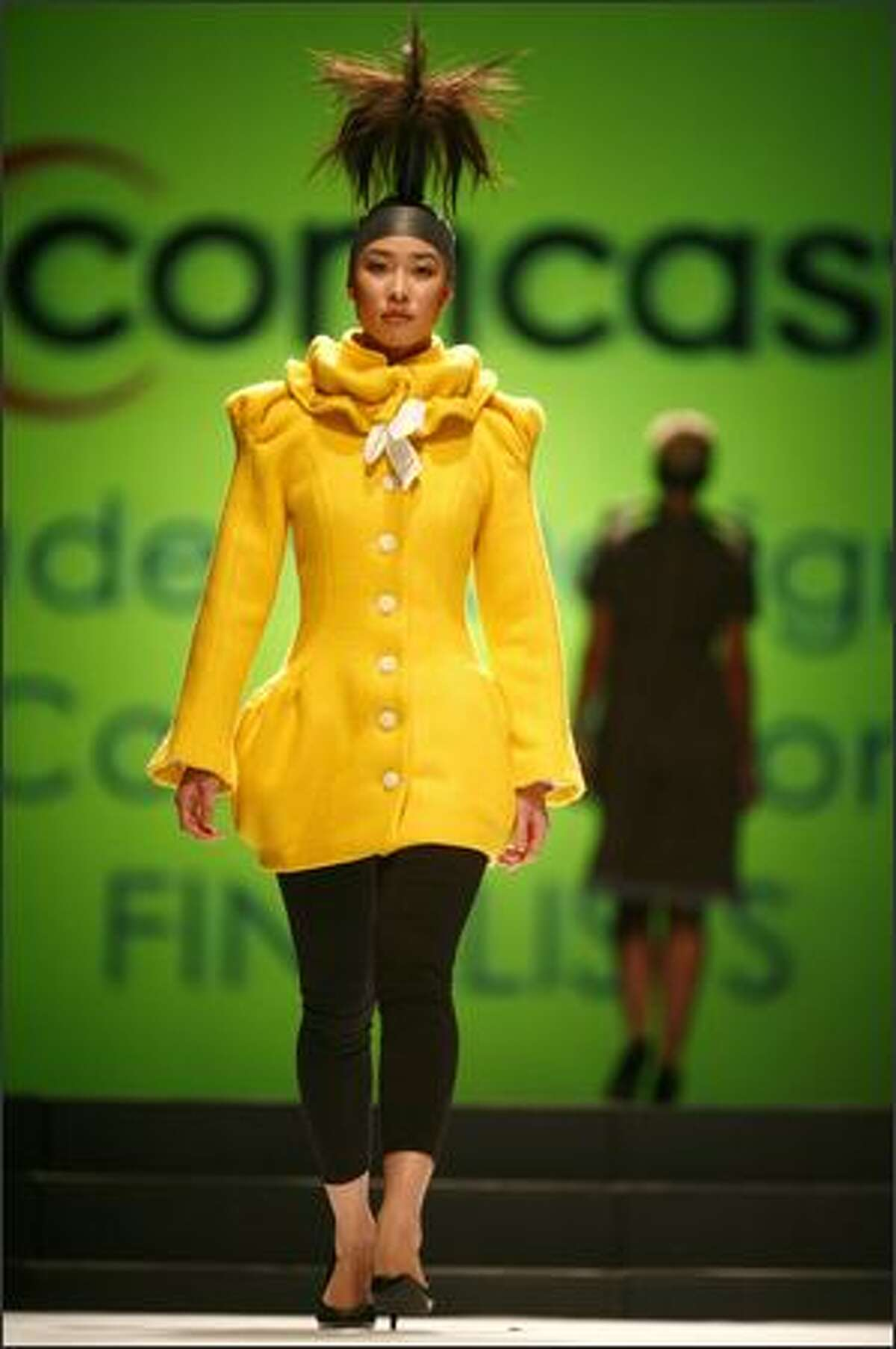 Model Cynthia Vuong walks the runway.