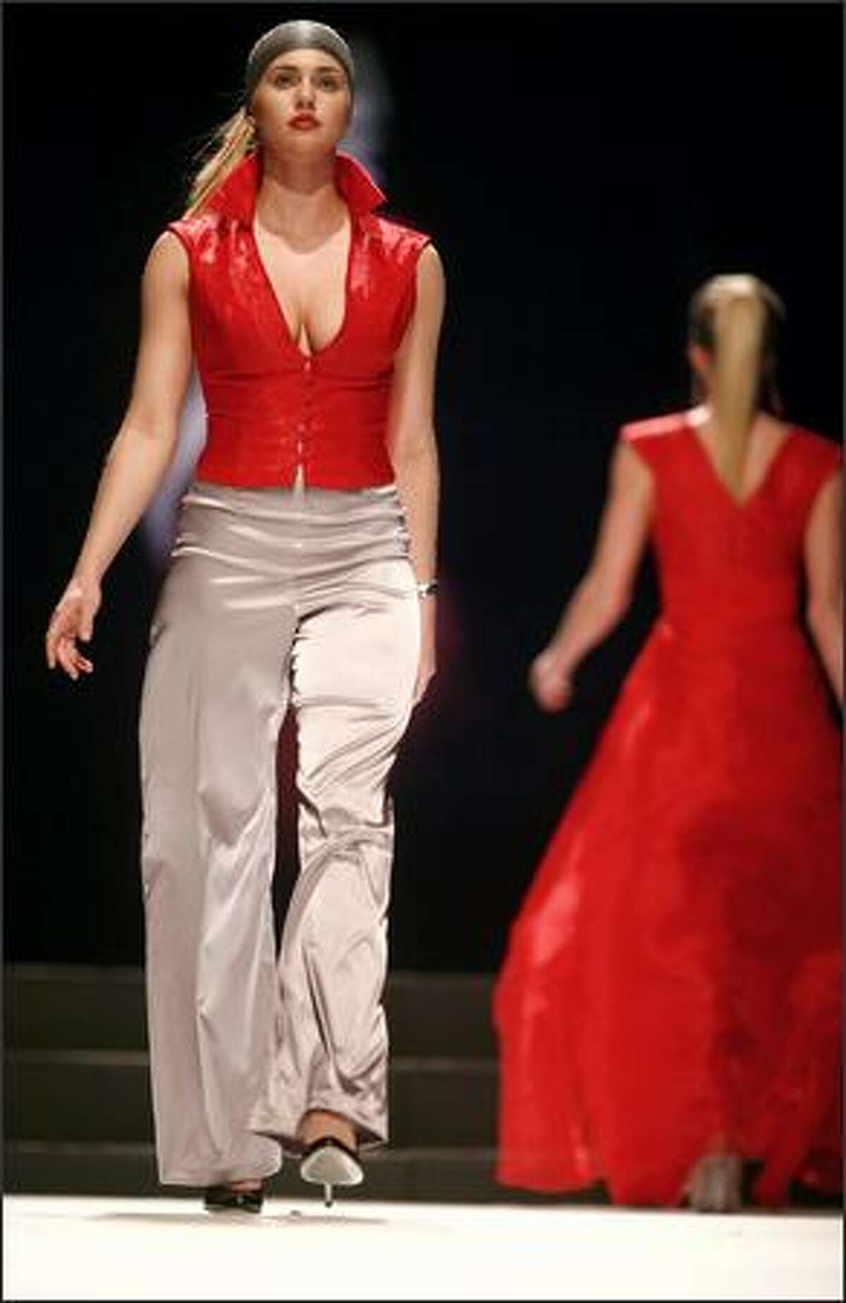 Model Andrea VanLaar walks the runway.