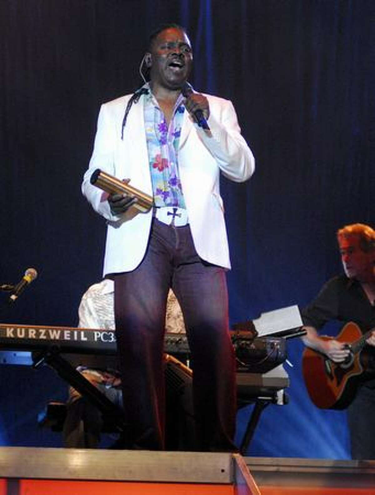 Philip Bailey of Earth, Wind and Fire performs at the WaMu Theater July 17.