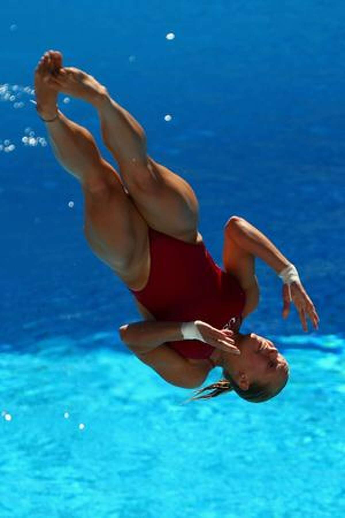 Brittany Viola of United States competes in the 1m Womens Springboard Diving at the Stadio del Nuoto on Sunday in Rome, Italy.