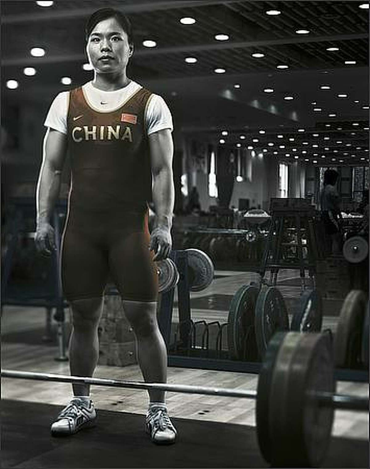 Chen Yanqing poses for a portrait shoot at the National Sports Training Centre in Beijing, China.