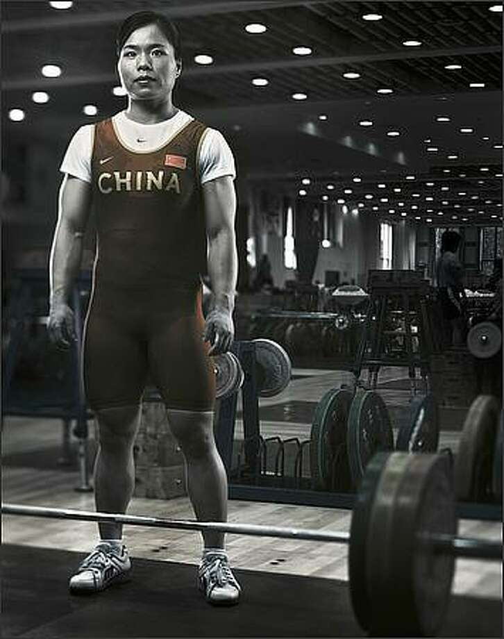 Chen Yanqing poses for a portrait shoot at the National Sports Training Centre in Beijing, China. Photo: Getty Images