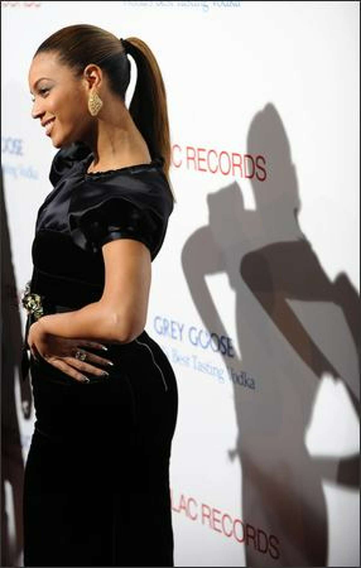 Actress and producer Beyonce Knowles arrives for the Los Angeles premiere of