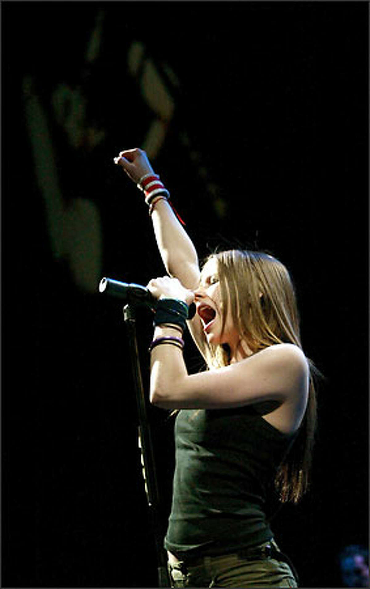Avril Lavigne at the Tacoma Dome.