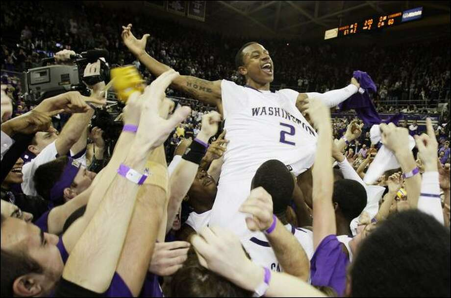 Confident Huskies guard Isaiah Thomas was named the Pac-10 freshman of the year but felt he deserved to be on the all-league first team. Photo: Ted S. Warren/Associated Press