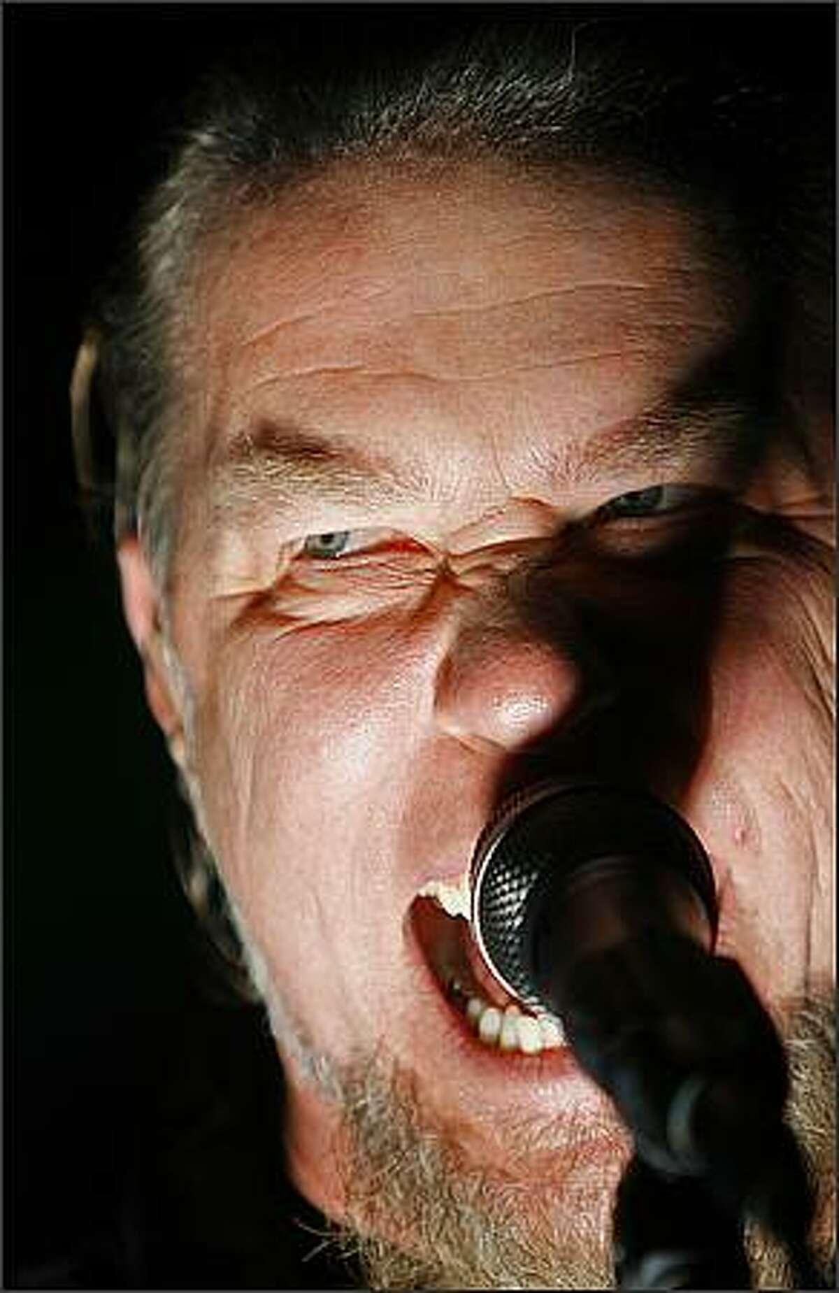 Metallica's lead vocalist James Hetfield plays KeyArena in Seattle.