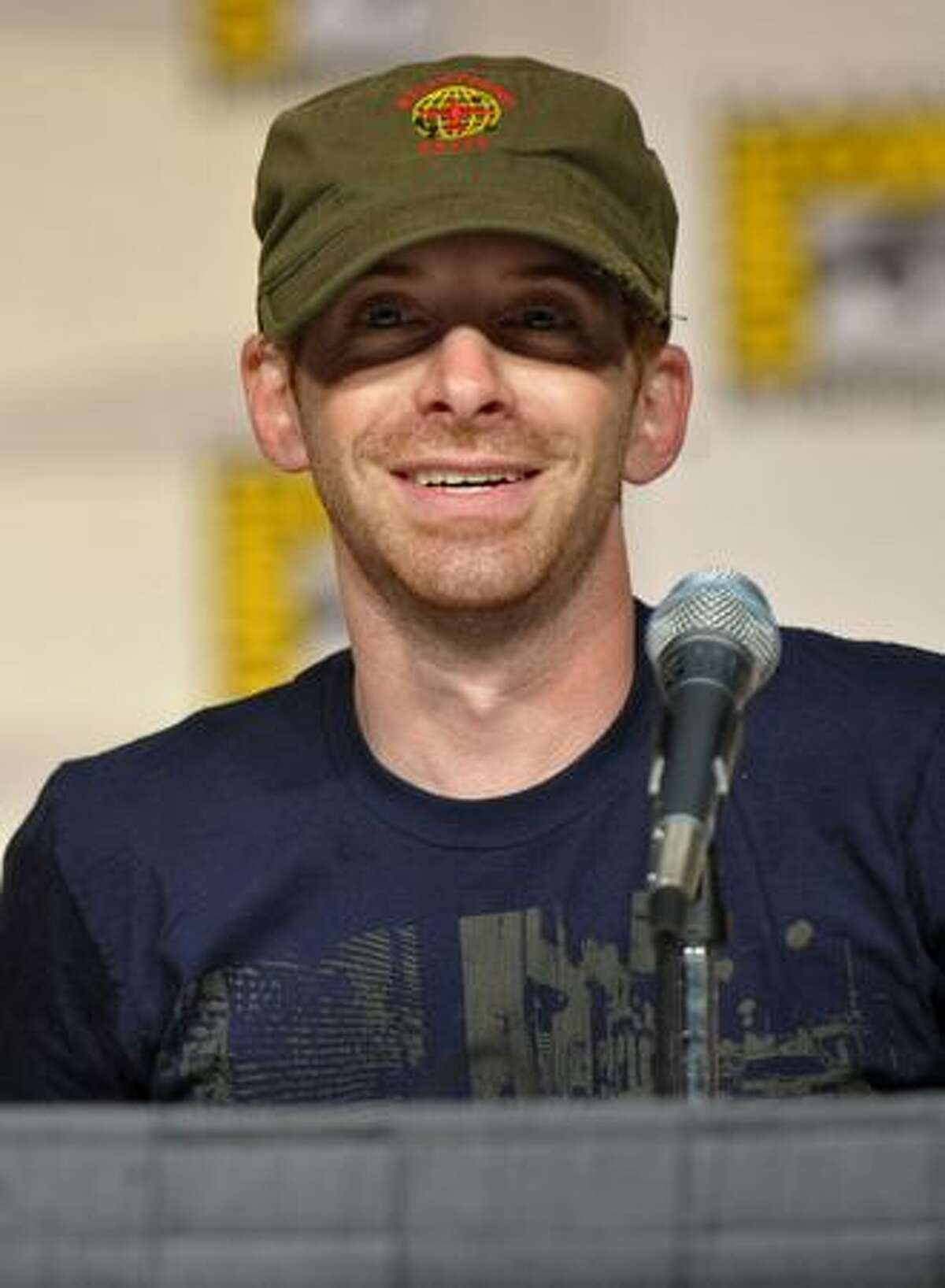 """SAN DIEGO - JULY 25: Actor Seth Green speaks at the """"Family Guy""""panel discussion at Comic-Con 2009 held at San Diego Convention Center on July 25, 2009 in San Diego, California."""