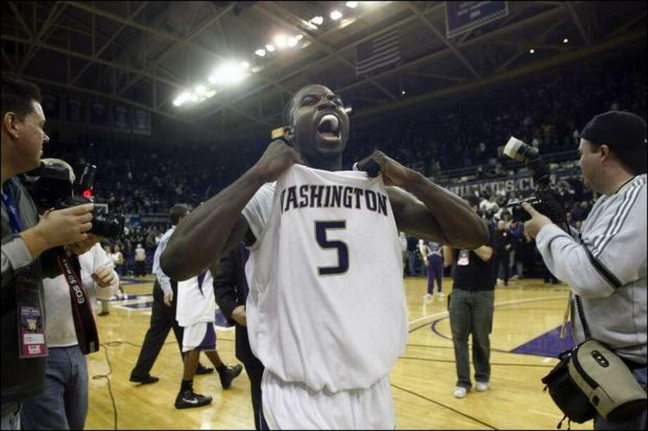 Washington guard Justin Dentmon won the Pac-10's most improved player award this season. Photo: Joe Nicholson/Associated Press