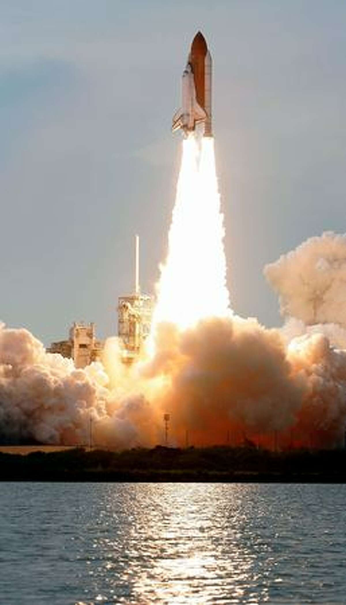 STS-127 Space Shuttle Endeavour launches from launch pad 39A at Kennedy Space Center July 15 in Cape Canaveral, Florida. After multiple delays due to hydrogen leaks and weather conditions, Endeavour is to deliver components of the Japan Aerospace Exploration Agency's Kibo laboratory to the International Space Station.