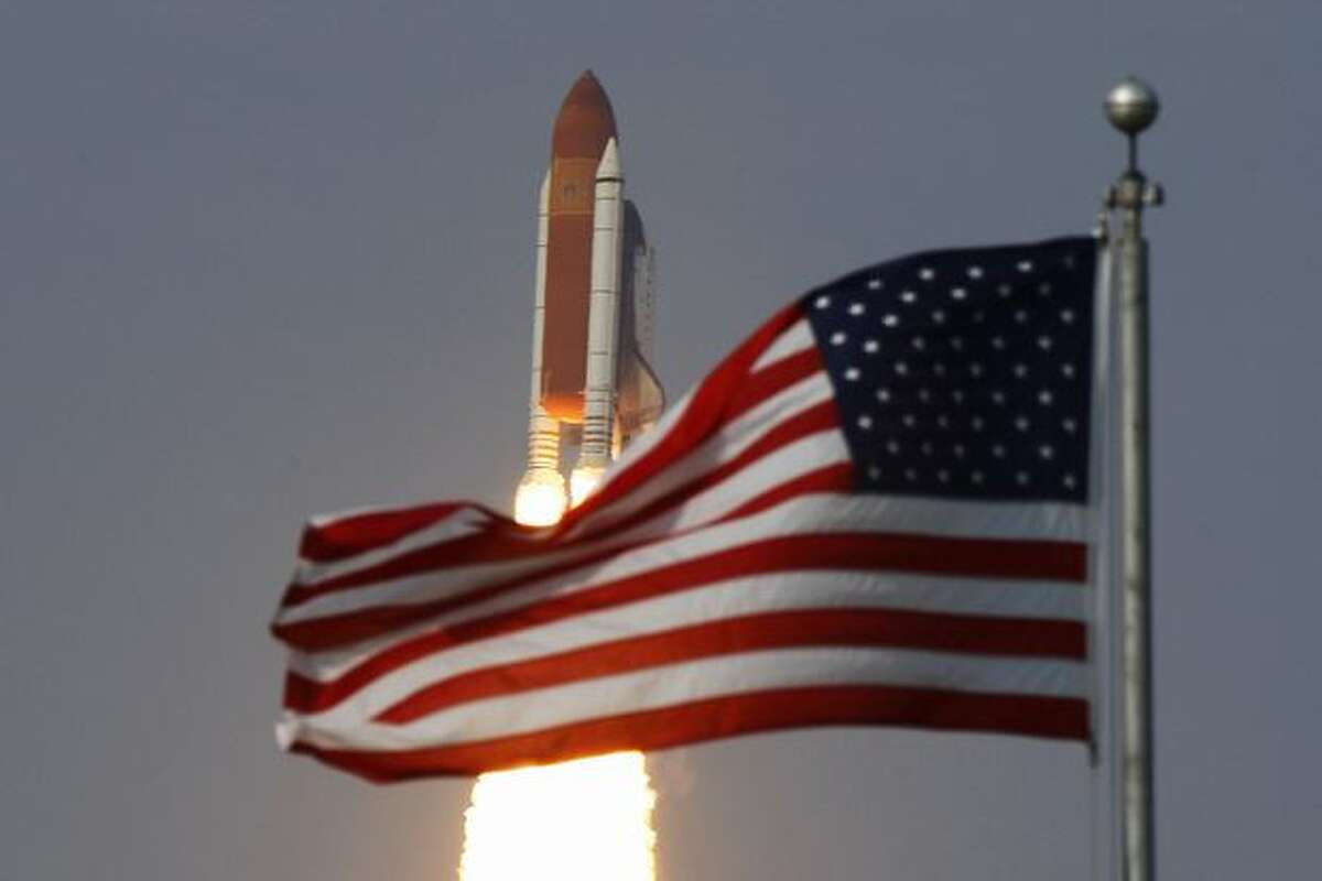 Space Shuttle Endeavour lifts off from launch pad 39-a at Kennedy Space Center July 15 in Cape Canaveral, Florida. Endeavour is scheduled for a 16-day construction mission to the International Space Station.