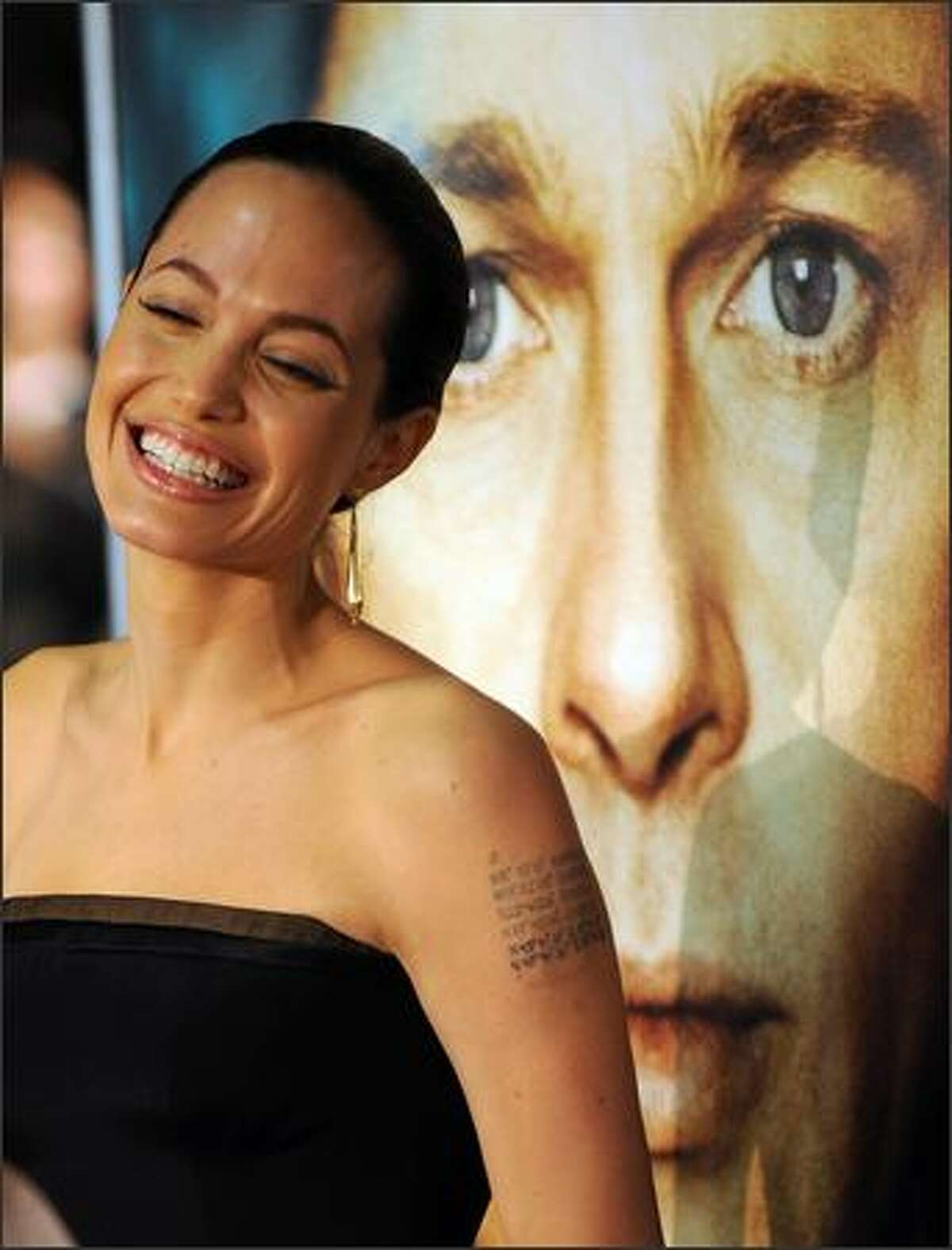 Actress Angelina Jolie arrives for the Los Angeles premiere of