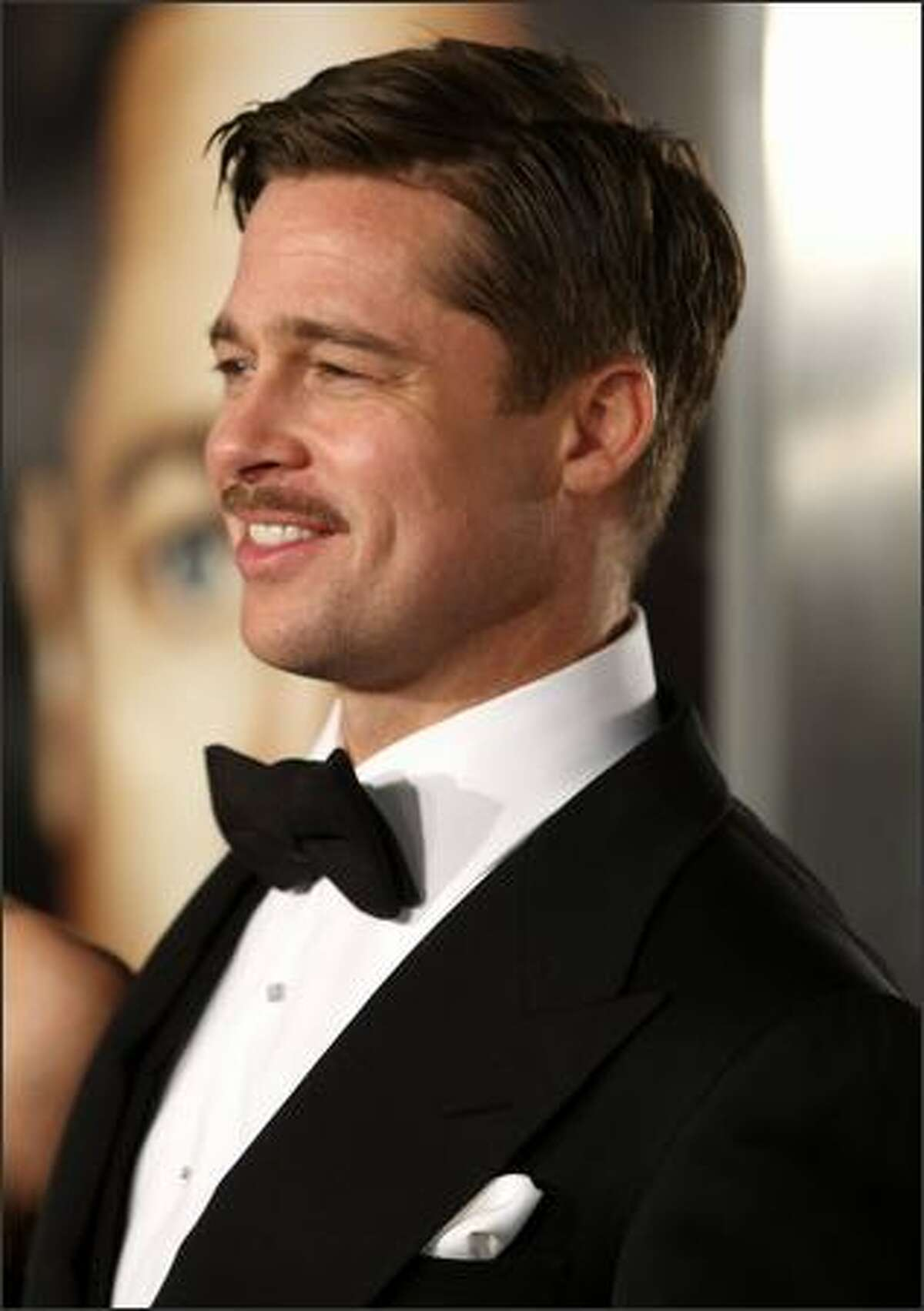 """Actor Brad Pitt arrives at the premiere of Paramount's """"The Curious Case Of Benjamin Button"""" held at Mann's Village Theatre on Monday in Westwood, Calif."""