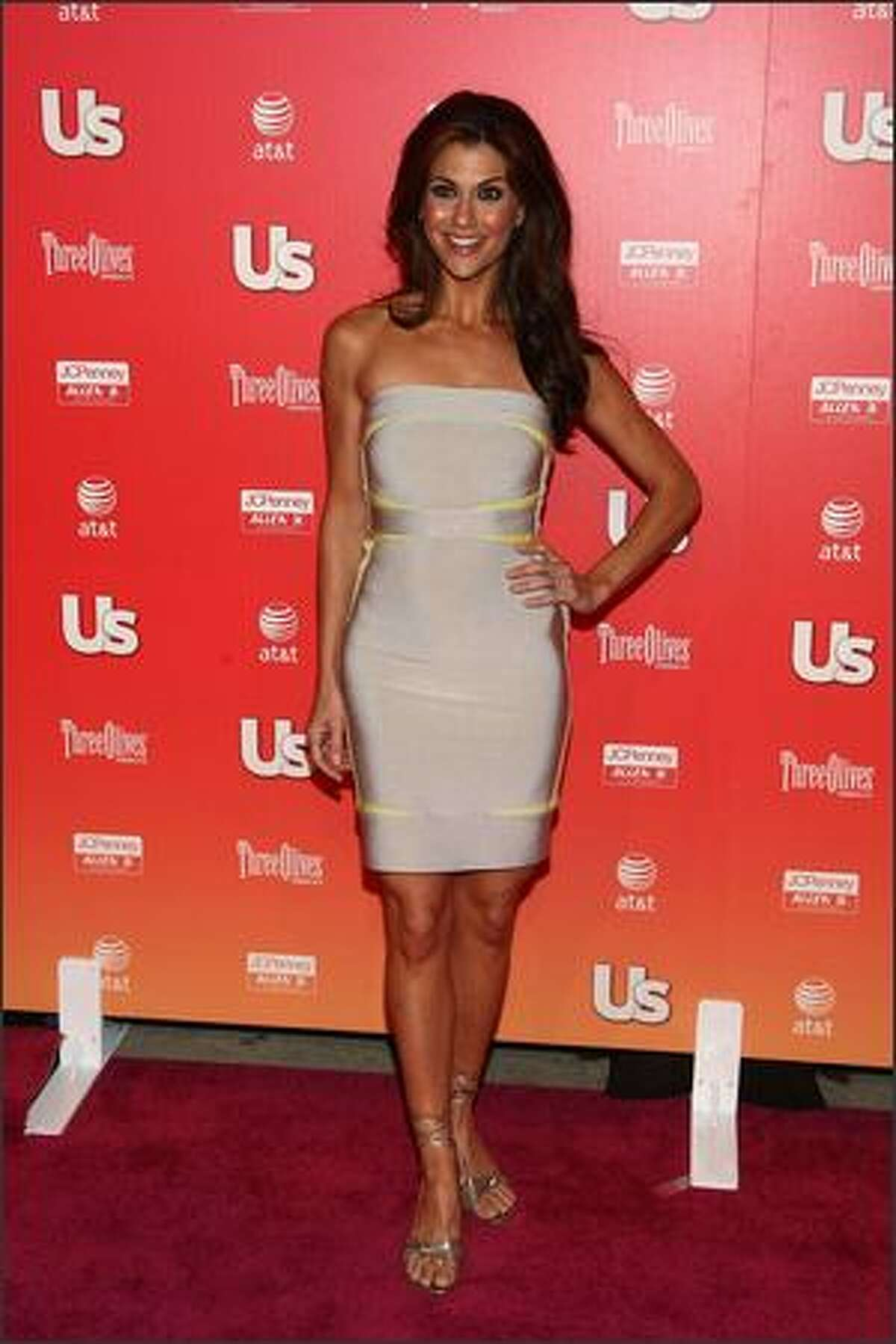 TV personality Samantha Harris arrives at the Us Weekly Hot Hollywood Party held at My House nightclub in Los Angeles.