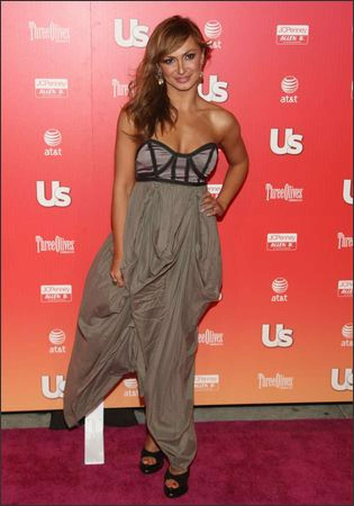 Professional dancer Karina Smirnoff arrives at the Us Weekly Hot Hollywood Party held at My House nightclub in Los Angeles.