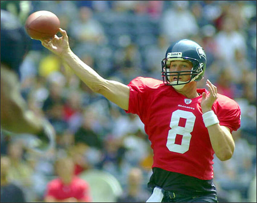 Matt Hasselbeck, who began his career with the Seahawks with a mediocre 2001 season, possesses the veteran savvy necessary to run a Mike Holmgren offense with aplomb.