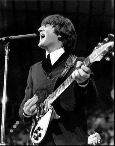 John Lennon at the Seattle Center Coliseum, Aug. 21, 1964. (Photo by Timothy Eagan/courtesy Mike Eagan)
