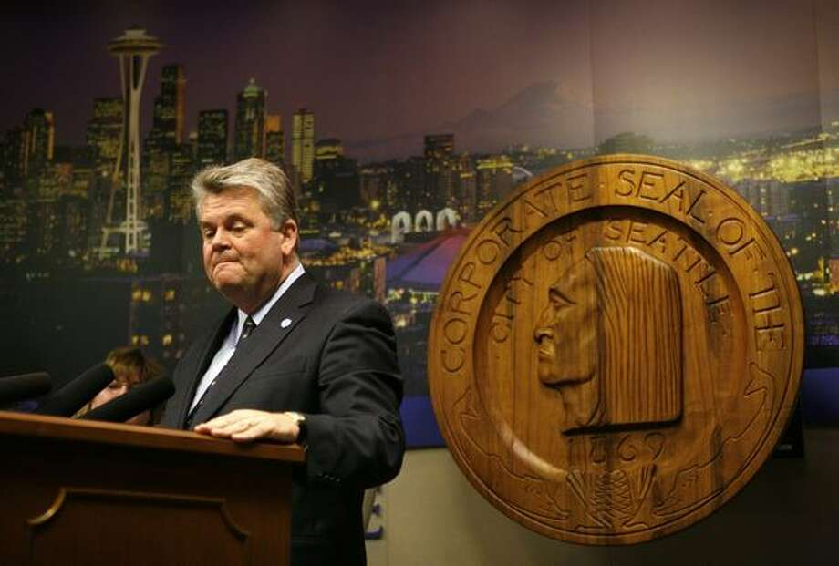 Seattle Mayor Greg Nickels was president of the U.S. Conference of Mayors when he finished third in the 2009 mayoral primary, leaving him out of the general election. Photo: Joshua Trujillo, Seattlepi.com