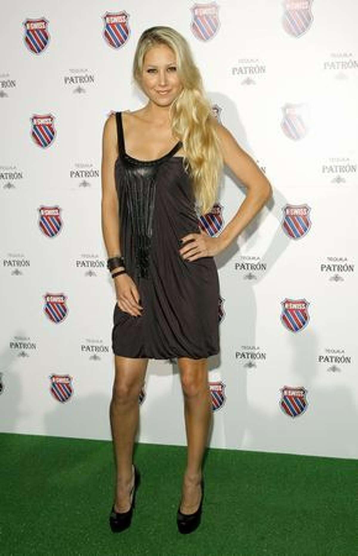 """Anna Kournikova attends the """"Play Nice"""" runway show and party hosted by K-Swiss to kick off U.S. Open week at Skyline Gallery in New York on Thursday, Aug. 26, 2009."""