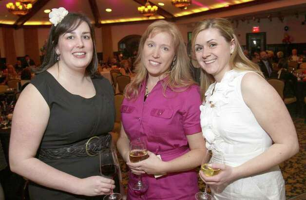 From left: Emily Donohue, Betsy DeMars and Erica Miller at a Children's Museum benefit March 19, 2011, in Saratoga Springs. (Photo by Joe Putrock / Special to the Times Union) Photo: Joe Putrock / Joe Putrock