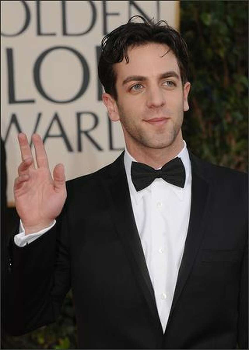 Actor B.J. Novak arrives at the 66th Annual Golden Globe Awards held at the Beverly Hilton Hotel in Beverly Hills, California.