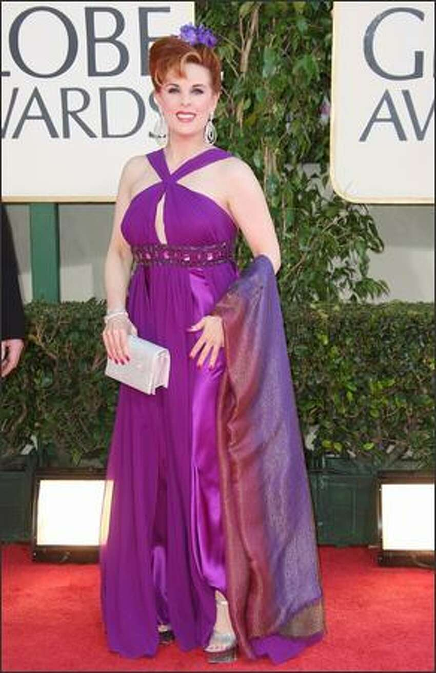 Hollwyood gadfly Kat Kramer sets the bar pretty high for this year's worst-dressed gallery at the 66th annual Golden Globe Awards held at the Beverly Hilton Hotel in Beverly Hills, Calif., on Sunday.
