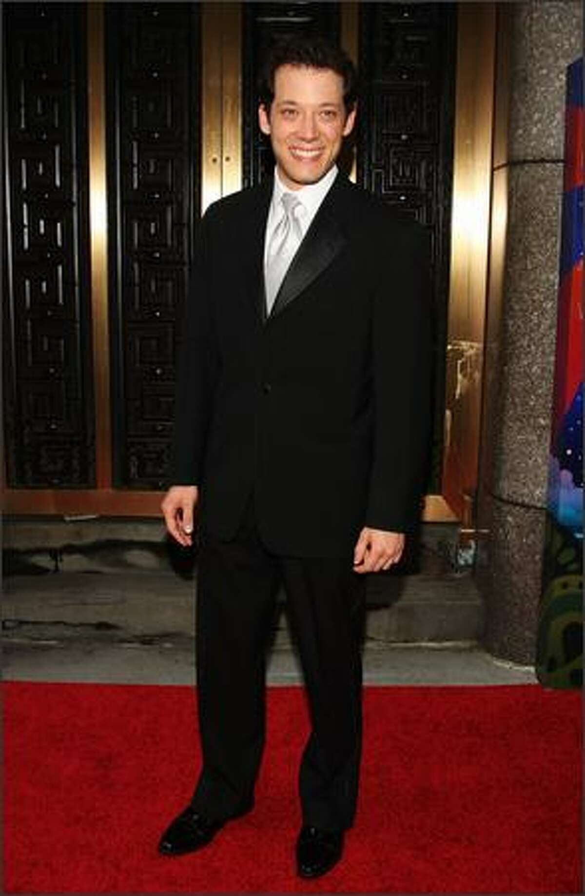 Actor John Tartaglia attends the 63rd Annual Tony Awards at Radio City Music Hall on Sunday in New York City.