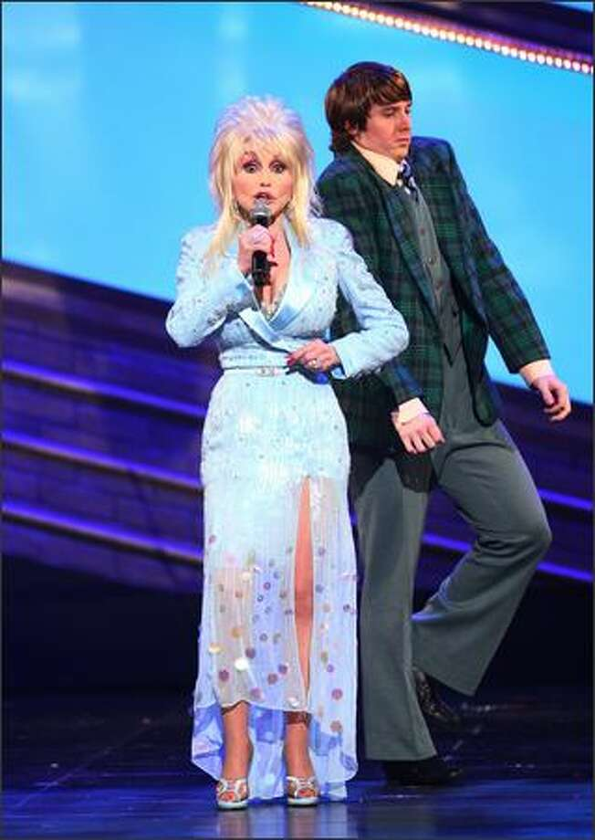 "Singer Dolly Parton performs a song from ""9 to 5"" the musical onstage during the 63rd Annual Tony Awards at Radio City Music Hall on Sunday in New York City. Photo: Getty Images"
