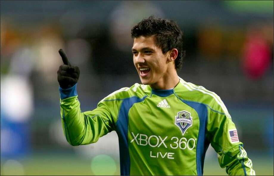 Sounders FC player Fredy Montero during a recent game. Photo: Joshua Trujillo/seattlepi.com