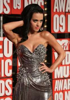 Katy Perry arrives at the 2009 MTV Video Music Awards at Radio City Music Hall in New York on Sunday. Photo: Getty Images