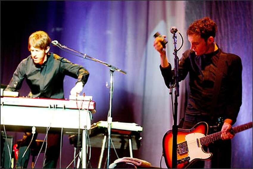 The Black Keys, based in Akron, Ohio, backed Beck when his